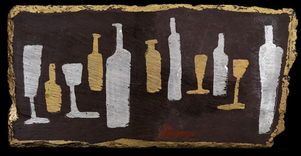 Bottles and Glasses on Slate 1