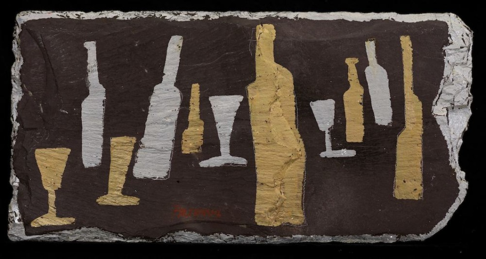 Bottles and Glasses on Slate 2