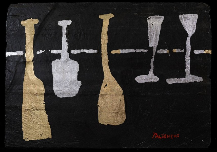Bottles and Glasses on Slate 3