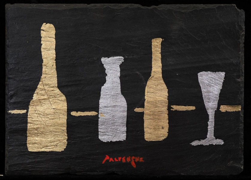 Bottles and Glasses on Slate 4
